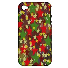 Star Abstract Multicoloured Stars Background Pattern Apple iPhone 4/4S Hardshell Case (PC+Silicone)