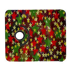 Star Abstract Multicoloured Stars Background Pattern Galaxy S3 (Flip/Folio)
