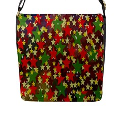 Star Abstract Multicoloured Stars Background Pattern Flap Messenger Bag (L)