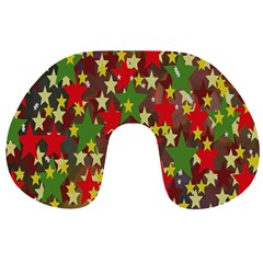Star Abstract Multicoloured Stars Background Pattern Travel Neck Pillows