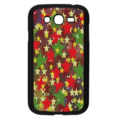 Star Abstract Multicoloured Stars Background Pattern Samsung Galaxy Grand Duos I9082 Case (black)