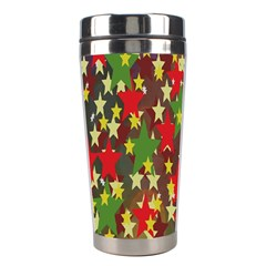 Star Abstract Multicoloured Stars Background Pattern Stainless Steel Travel Tumblers