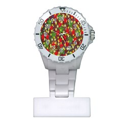 Star Abstract Multicoloured Stars Background Pattern Plastic Nurses Watch