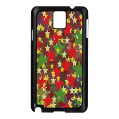Star Abstract Multicoloured Stars Background Pattern Samsung Galaxy Note 3 N9005 Case (Black)