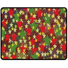 Star Abstract Multicoloured Stars Background Pattern Double Sided Fleece Blanket (Medium)