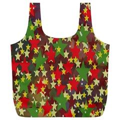 Star Abstract Multicoloured Stars Background Pattern Full Print Recycle Bags (L)