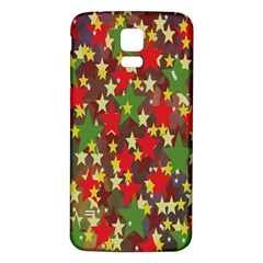 Star Abstract Multicoloured Stars Background Pattern Samsung Galaxy S5 Back Case (white)