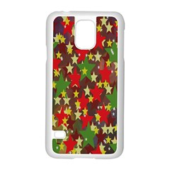 Star Abstract Multicoloured Stars Background Pattern Samsung Galaxy S5 Case (White)
