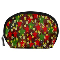 Star Abstract Multicoloured Stars Background Pattern Accessory Pouches (Large)