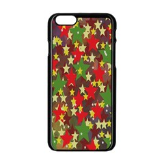 Star Abstract Multicoloured Stars Background Pattern Apple iPhone 6/6S Black Enamel Case