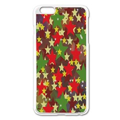 Star Abstract Multicoloured Stars Background Pattern Apple iPhone 6 Plus/6S Plus Enamel White Case