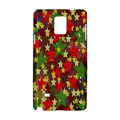 Star Abstract Multicoloured Stars Background Pattern Samsung Galaxy Note 4 Hardshell Case