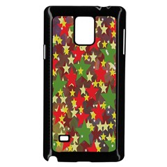 Star Abstract Multicoloured Stars Background Pattern Samsung Galaxy Note 4 Case (Black)
