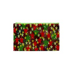 Star Abstract Multicoloured Stars Background Pattern Cosmetic Bag (XS)