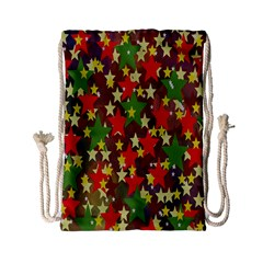 Star Abstract Multicoloured Stars Background Pattern Drawstring Bag (small)