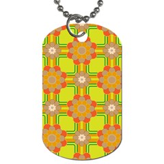 Floral Pattern Wallpaper Background Beautiful Colorful Dog Tag (One Side)