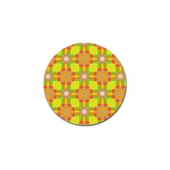 Floral Pattern Wallpaper Background Beautiful Colorful Golf Ball Marker