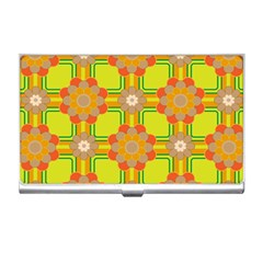 Floral Pattern Wallpaper Background Beautiful Colorful Business Card Holders