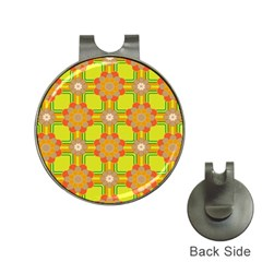 Floral Pattern Wallpaper Background Beautiful Colorful Hat Clips with Golf Markers