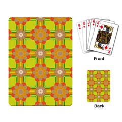 Floral Pattern Wallpaper Background Beautiful Colorful Playing Card