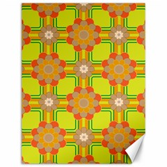 Floral Pattern Wallpaper Background Beautiful Colorful Canvas 12  x 16