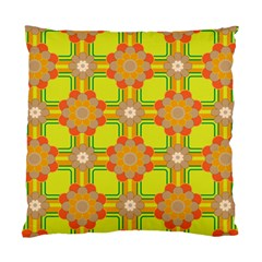 Floral Pattern Wallpaper Background Beautiful Colorful Standard Cushion Case (one Side)