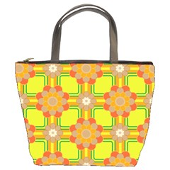 Floral Pattern Wallpaper Background Beautiful Colorful Bucket Bags