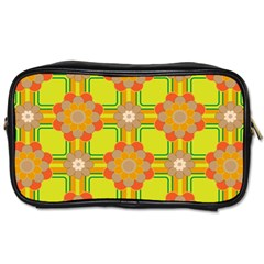 Floral Pattern Wallpaper Background Beautiful Colorful Toiletries Bags
