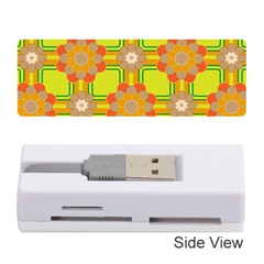 Floral Pattern Wallpaper Background Beautiful Colorful Memory Card Reader (stick)
