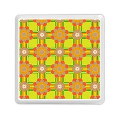 Floral Pattern Wallpaper Background Beautiful Colorful Memory Card Reader (square)