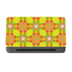 Floral Pattern Wallpaper Background Beautiful Colorful Memory Card Reader with CF