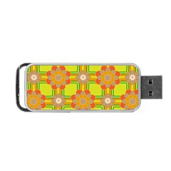 Floral Pattern Wallpaper Background Beautiful Colorful Portable USB Flash (One Side)