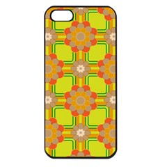 Floral Pattern Wallpaper Background Beautiful Colorful Apple iPhone 5 Seamless Case (Black)