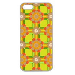 Floral Pattern Wallpaper Background Beautiful Colorful Apple Seamless iPhone 5 Case (Clear)