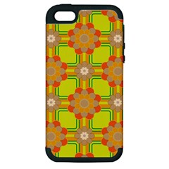 Floral Pattern Wallpaper Background Beautiful Colorful Apple iPhone 5 Hardshell Case (PC+Silicone)