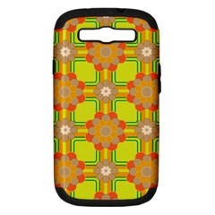 Floral Pattern Wallpaper Background Beautiful Colorful Samsung Galaxy S III Hardshell Case (PC+Silicone)