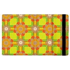 Floral Pattern Wallpaper Background Beautiful Colorful Apple iPad 2 Flip Case