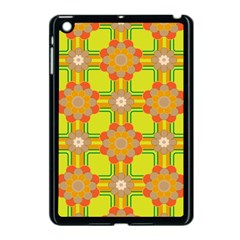 Floral Pattern Wallpaper Background Beautiful Colorful Apple iPad Mini Case (Black)