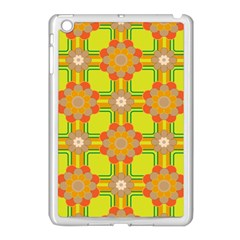 Floral Pattern Wallpaper Background Beautiful Colorful Apple iPad Mini Case (White)