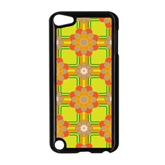 Floral Pattern Wallpaper Background Beautiful Colorful Apple iPod Touch 5 Case (Black)