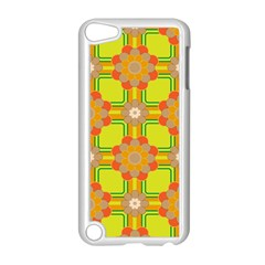 Floral Pattern Wallpaper Background Beautiful Colorful Apple iPod Touch 5 Case (White)