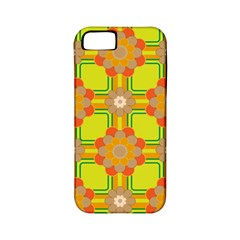 Floral Pattern Wallpaper Background Beautiful Colorful Apple iPhone 5 Classic Hardshell Case (PC+Silicone)