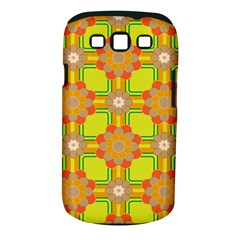 Floral Pattern Wallpaper Background Beautiful Colorful Samsung Galaxy S III Classic Hardshell Case (PC+Silicone)