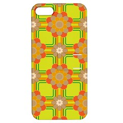 Floral Pattern Wallpaper Background Beautiful Colorful Apple iPhone 5 Hardshell Case with Stand