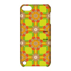 Floral Pattern Wallpaper Background Beautiful Colorful Apple iPod Touch 5 Hardshell Case with Stand