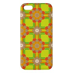 Floral Pattern Wallpaper Background Beautiful Colorful Apple iPhone 5 Premium Hardshell Case
