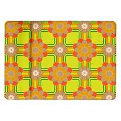 Floral Pattern Wallpaper Background Beautiful Colorful Samsung Galaxy Tab 10 1  P7500 Flip Case