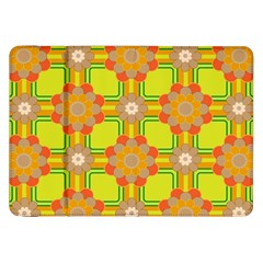Floral Pattern Wallpaper Background Beautiful Colorful Samsung Galaxy Tab 8.9  P7300 Flip Case