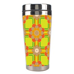 Floral Pattern Wallpaper Background Beautiful Colorful Stainless Steel Travel Tumblers