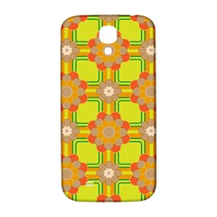 Floral Pattern Wallpaper Background Beautiful Colorful Samsung Galaxy S4 I9500/I9505  Hardshell Back Case